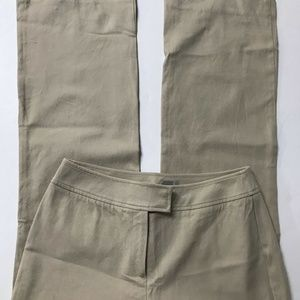 CHICO'S Women's 0.5 (6) Khaki Stretch Pants NEW